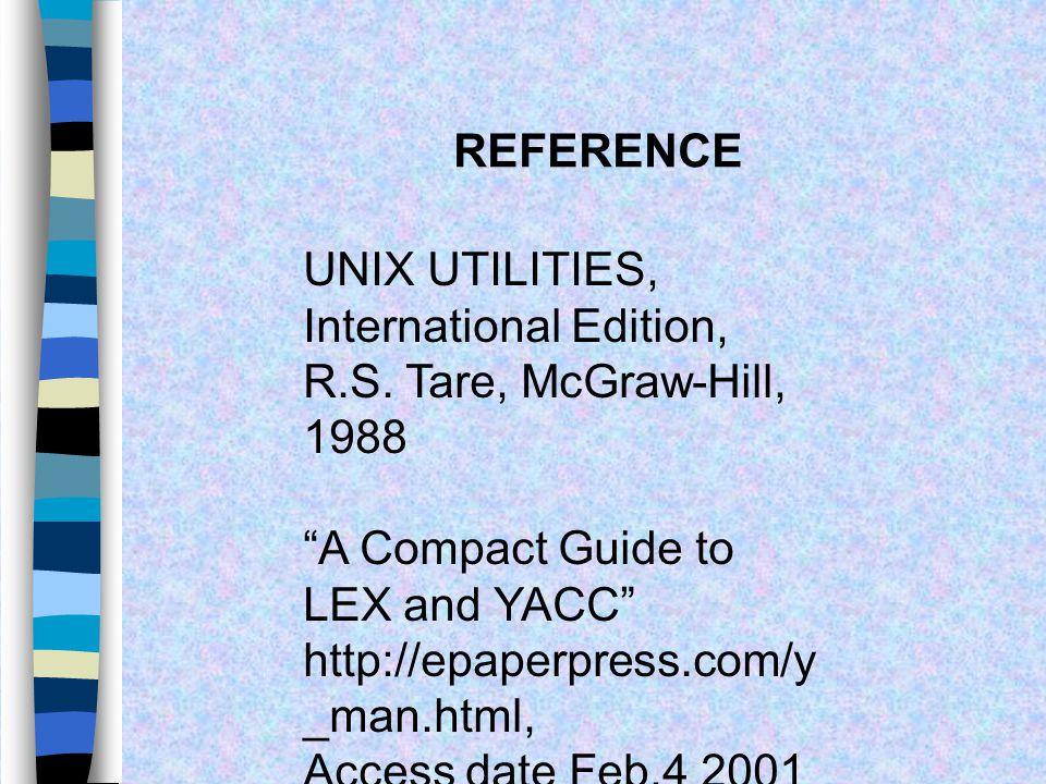 Compile และ Run โปรแกรม >yacc –d cal.y > lex cal.l > cc lex.yy.c y.tab.c -o cal >./cal 3-1/* input */ 2/* ผลลัพธ์ */ 4-2+1 1/* ผลลัพธ์ */ 5+3+2-1 9/*