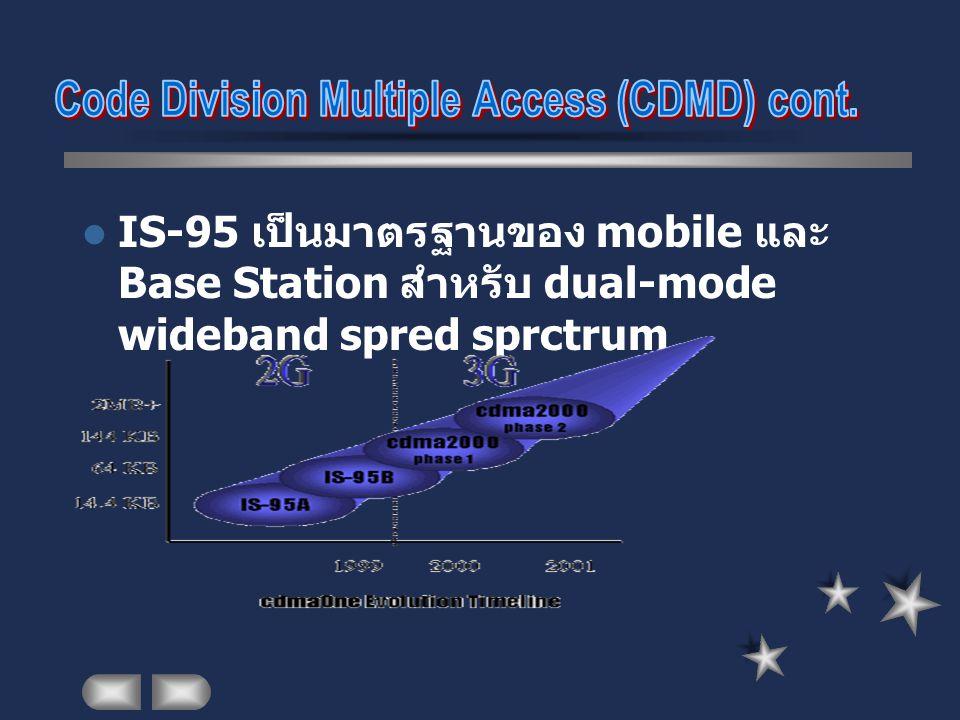 IS-95 เป็นมาตรฐานของ mobile และ Base Station สำหรับ dual-mode wideband spred sprctrum