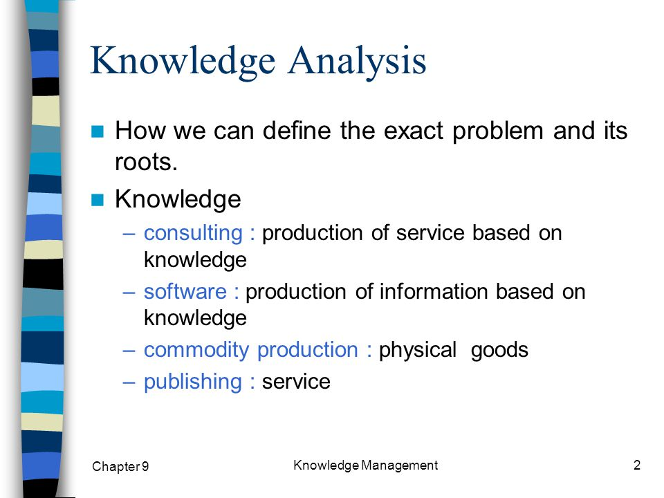 Chapter 9 Knowledge Management13 Diagnostic Questions to Evaluate Each Unit of Knowledge Analysis