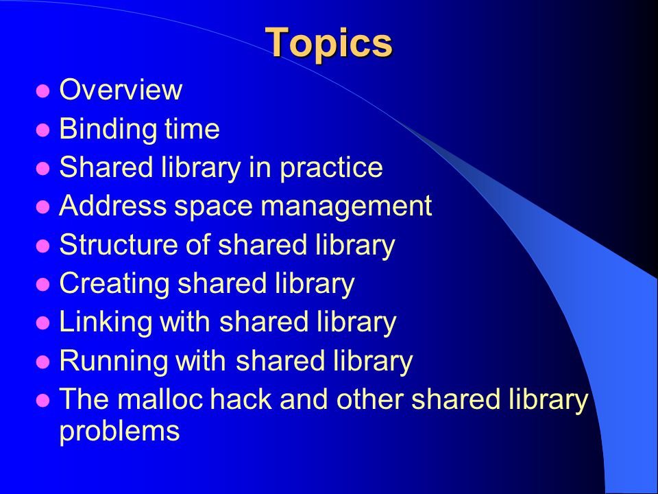 Shared library problems