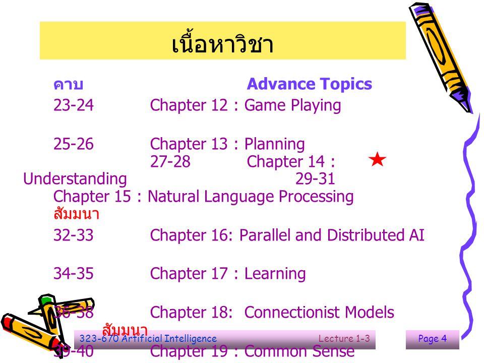 323-670 Artificial Intelligence Lecture 1-3Page 15 Tic-Tac-Toe : Program 2'  Board : nine element vector representation.