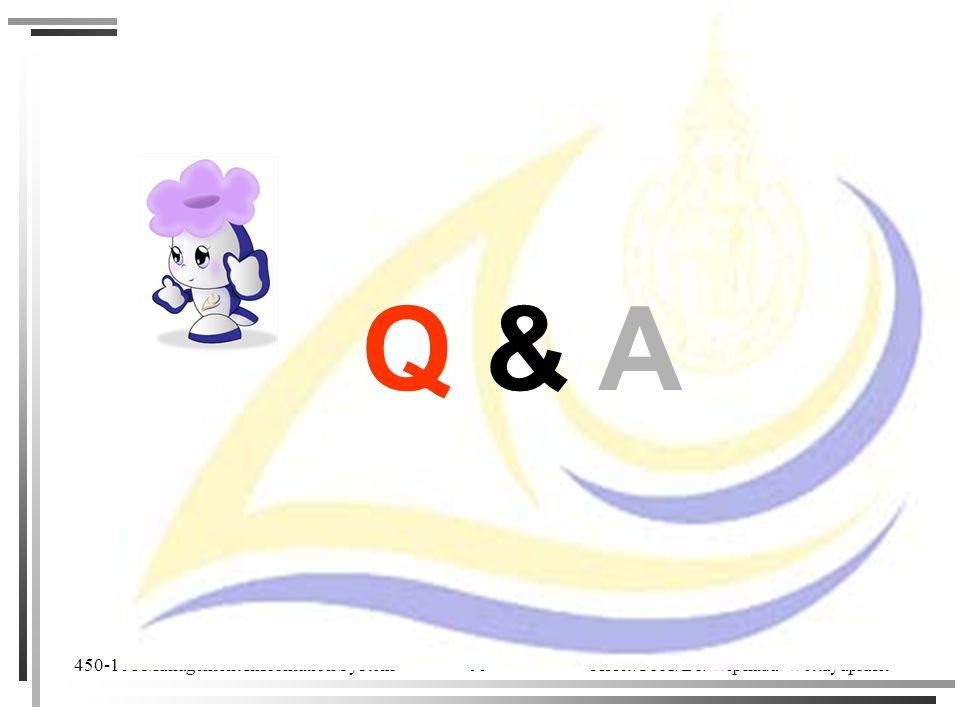 450-101 Management Information System Assit. Prof. Dr. Wiphada Wettayaprasit 99 Q & A