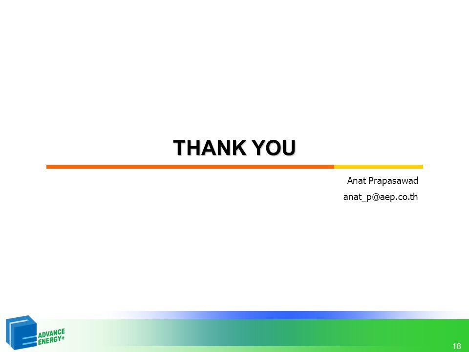 18 THANK YOU Anat Prapasawad anat_p@aep.co.th