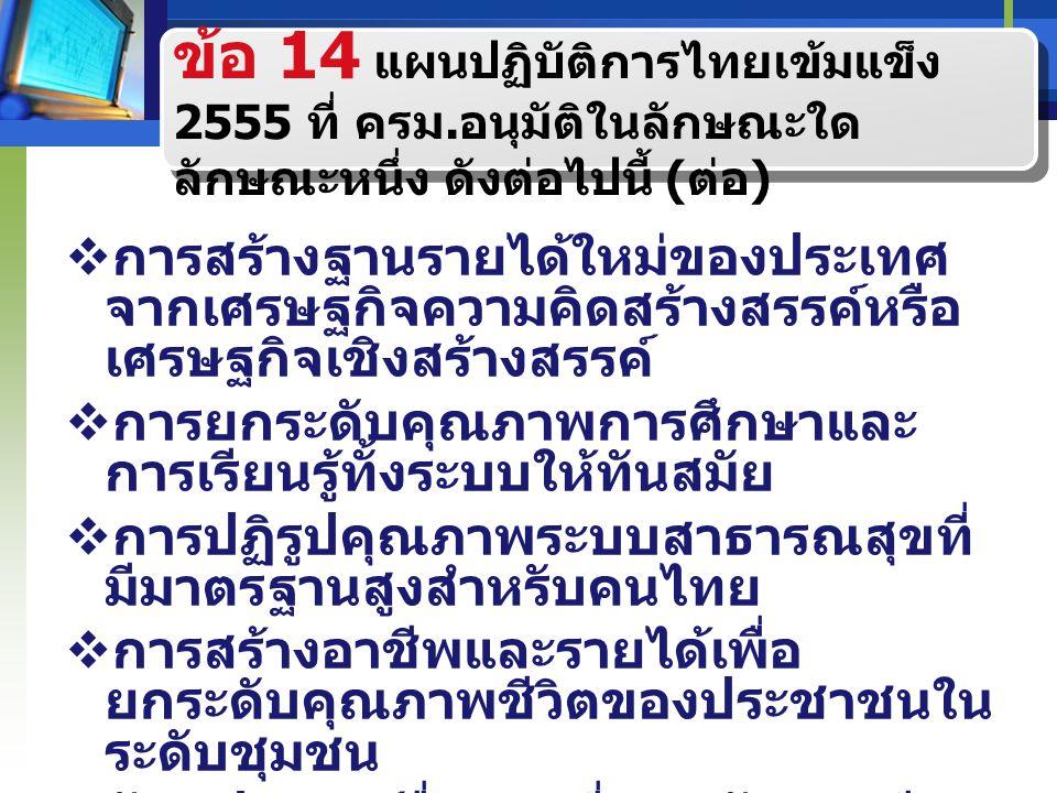 แนวทางการดำเนินงานโครงการเงิน อุดหนุนทั่วไป ภายใต้แผนปฏิบัติการไทยเข้มแข็ง 2555 จำนวน 23,000 ล้านบาท ( ต่อ ) 2.