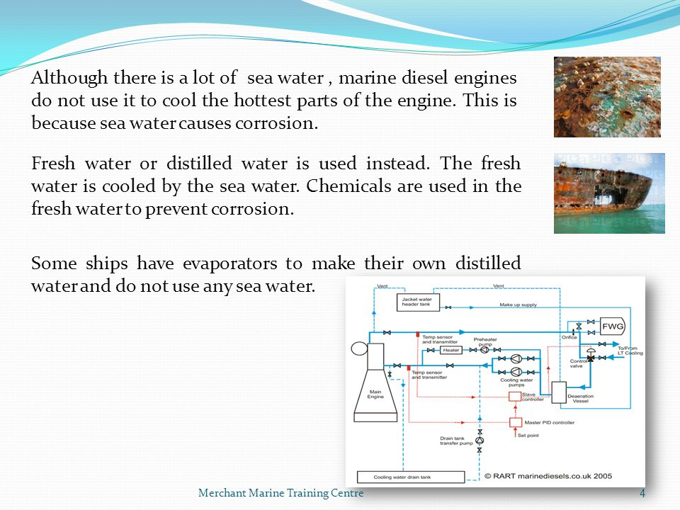Merchant Marine Training Centre5 Please note: Noun / Verb Cooling System Process วิชาการเป็นเลิศ เชิดชู คุณธรรม ผู้นำ The cooling water pumps pump water around the engine.
