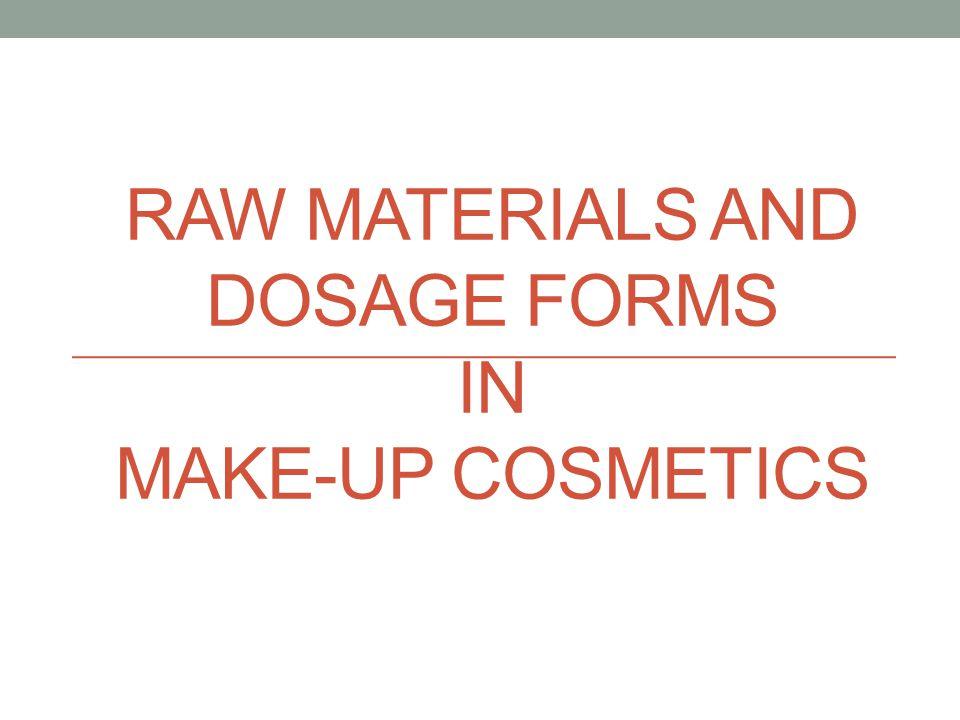 อ้างอิง 1.Presentation : Color Cosmetics By Alain KHAIAT, Ph.