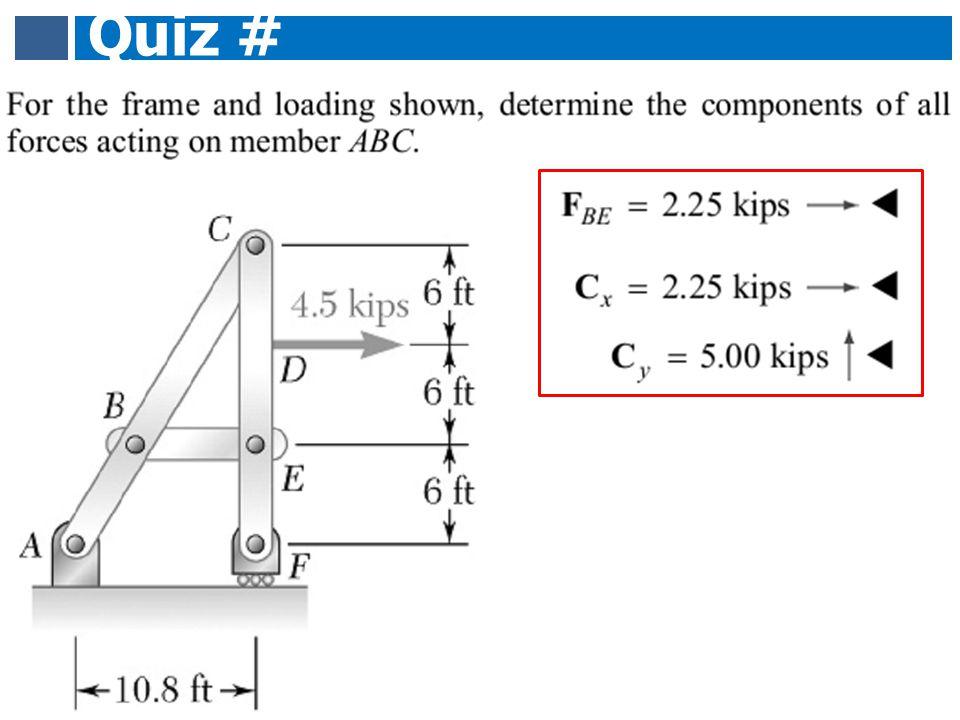 Quiz # 8