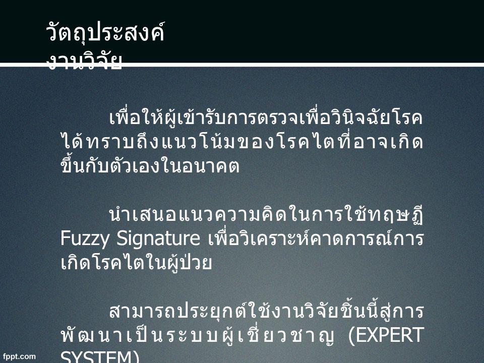 โครงสร้างของ Fuzzy Signature Fuzzy Signature