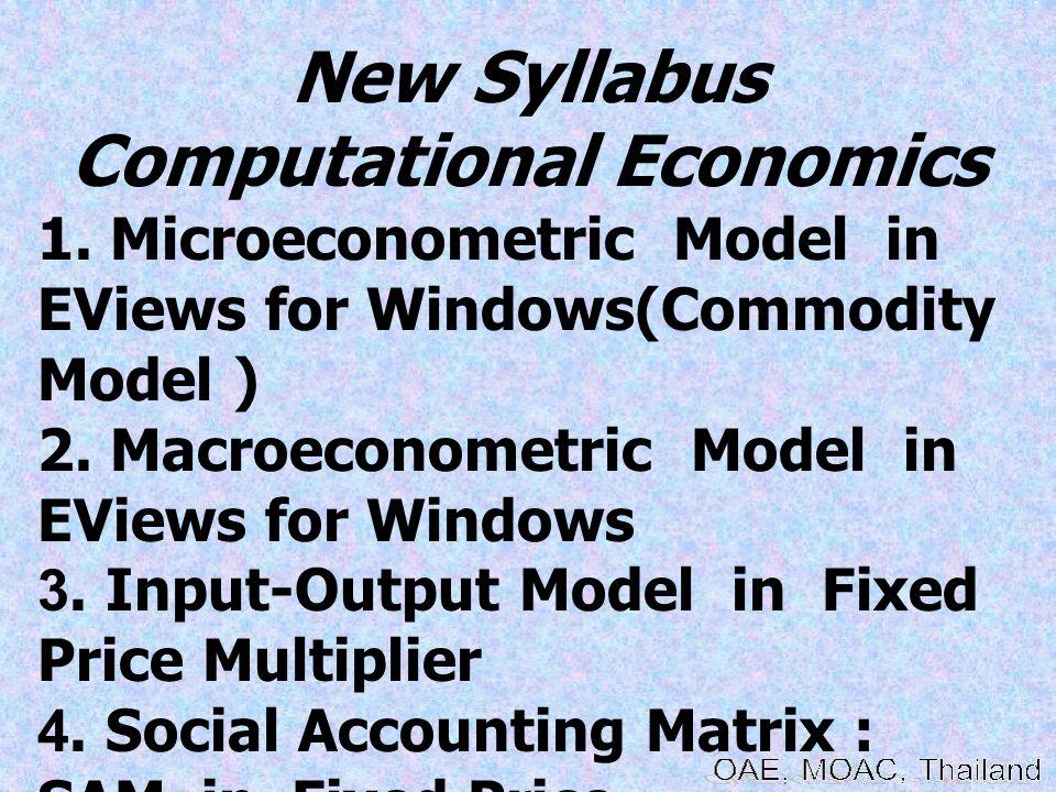 New Syllabus Computational Economics 1.