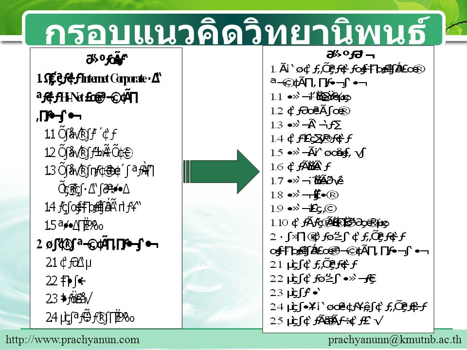Company Logo การสืบค้นข้อมูลในการทำ วิทยานิพนธ์ 10 http://www.prachyanun.com prachyanunn@kmutnb.ac.th