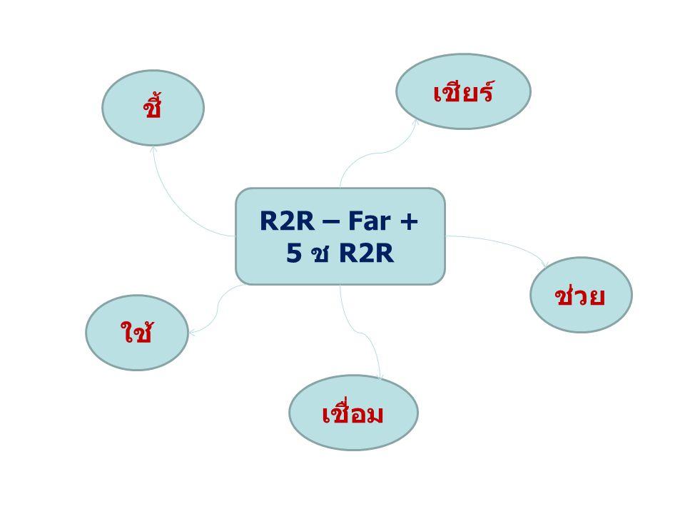R2R – Far + 5 ช R2R ชี้ เชียร์ ช่วย เชื่อม ใช้