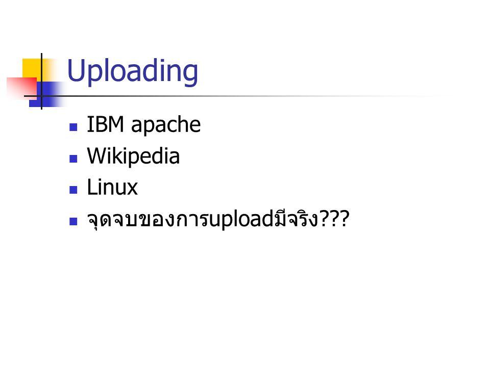 Uploading IBM apache Wikipedia Linux จุดจบของการ upload มีจริง ???