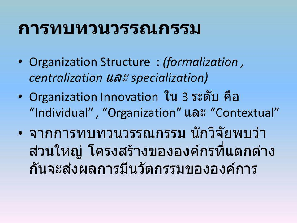 Conceptual Model absorptive capacity decision speed Formalization Centralization Organizational structure Organization Innovation