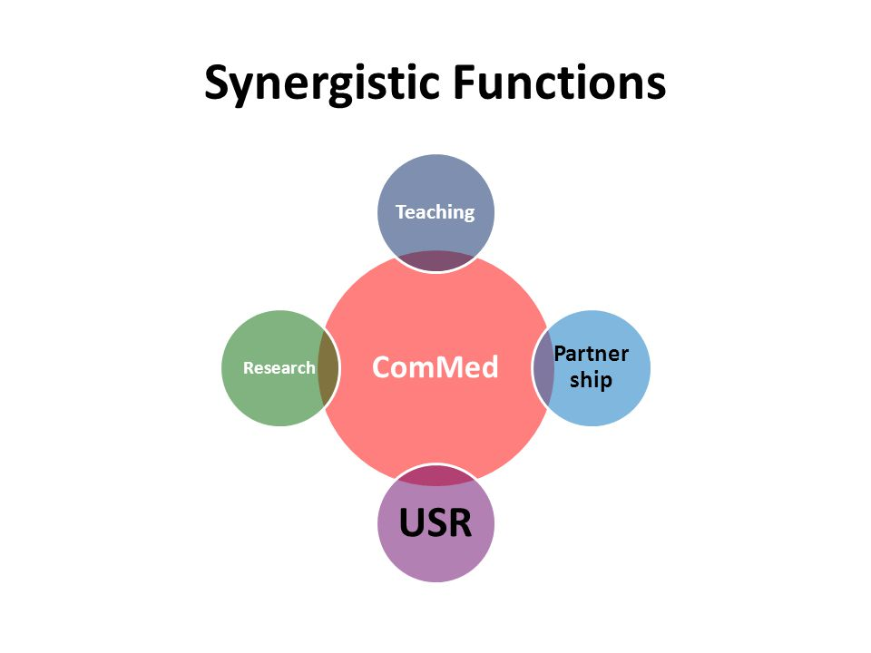 Synergistic Functions ComMed Teaching Partner ship USR Research