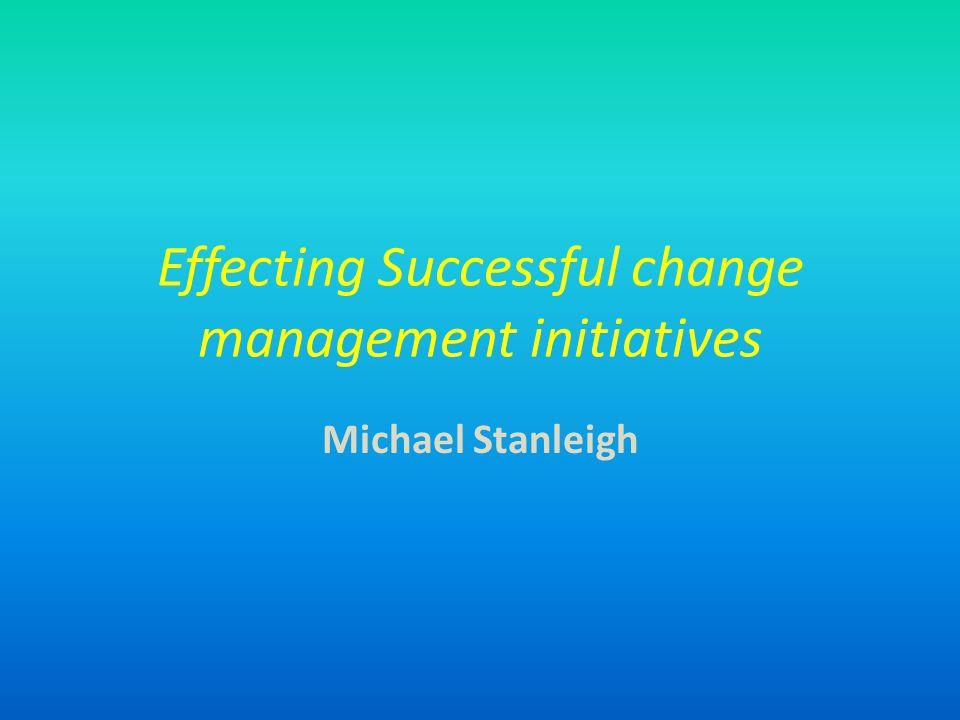 วัตถุประสงค์ของบทความ เป็นแนวทาง / ที่ปรึกษาให้กับ manager เพื่อทำให้การเริ่มต้นเปลี่ยนแปลง องค์การมีประสิทธิภาพ