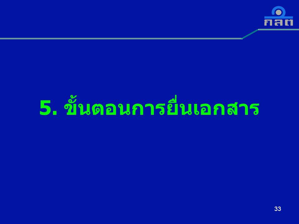 33 5. ขั้นตอนการยื่นเอกสาร