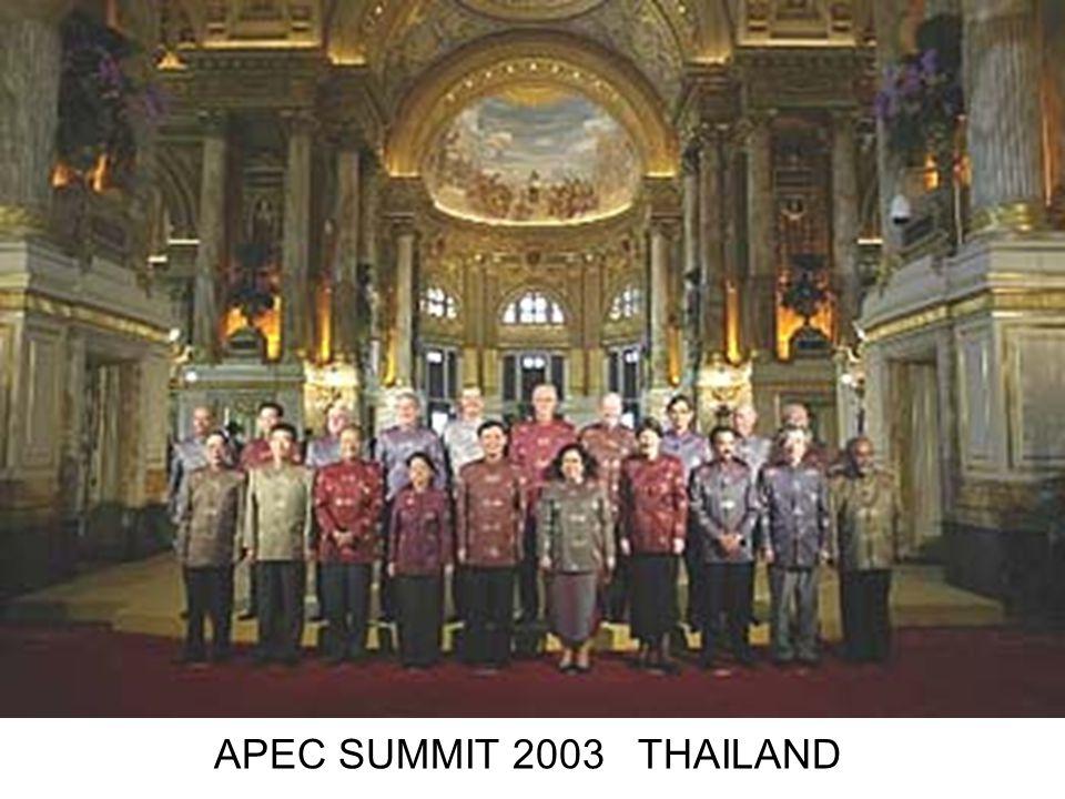 APEC SUMMIT 2003 THAILAND