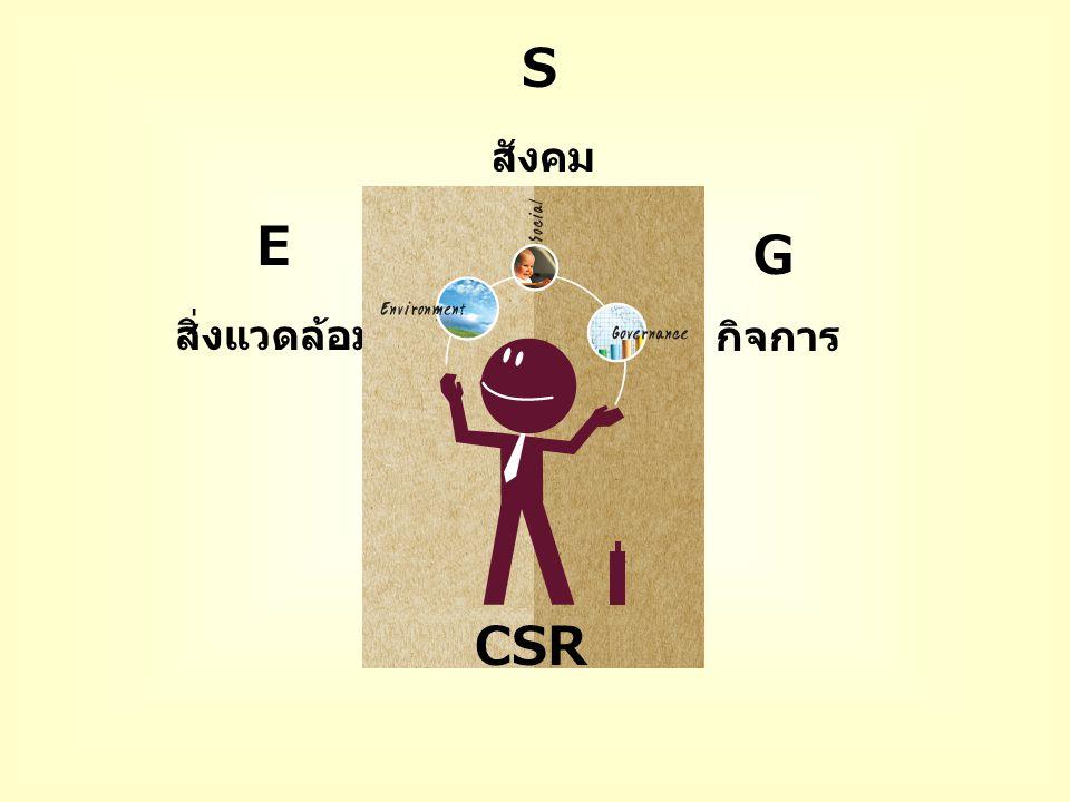 สิ่งแวดล้อม สังคม กิจการ G E S CSR