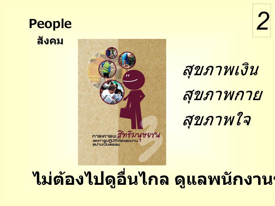 ไม่ต้องไปดูอื่นไกล ดูแลพนักงานของตัวเองให้ดีก่อน สุขภาพเงิน สุขภาพกาย สุขภาพใจ สังคม People 2