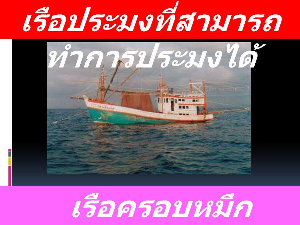 เรือประมงที่สามารถ ทำการประมงได้ เรือครอบหมึก