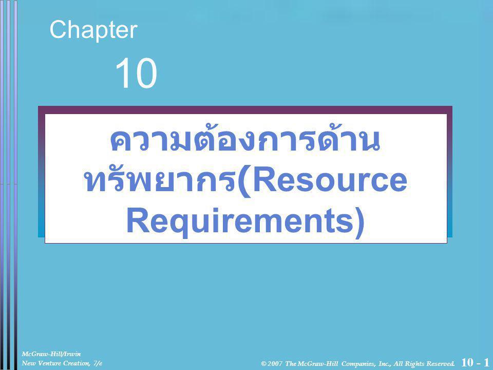 10 - 2 Objectives ศึกษาทัศนคติของผู้ประกอบการที่ประสบความสำเร็จ เกี่ยวกับการจัดการทรัพยากรคน เงินทุน และทรัพยากรอื่นๆ ทราบความสำคัญในการเลือกและการใช้อรรถประโยชน์ของ ผู้เชี่ยวชาญจากภายนอก เช่น broad of director, laywers, accountants and consultant ศึกษาเกี่ยวกับการตัดสินใจทางการเงิน การสร้างงบดุล งบกำไรขาดทุน และ กระแสเงินสดอย่างง่าย