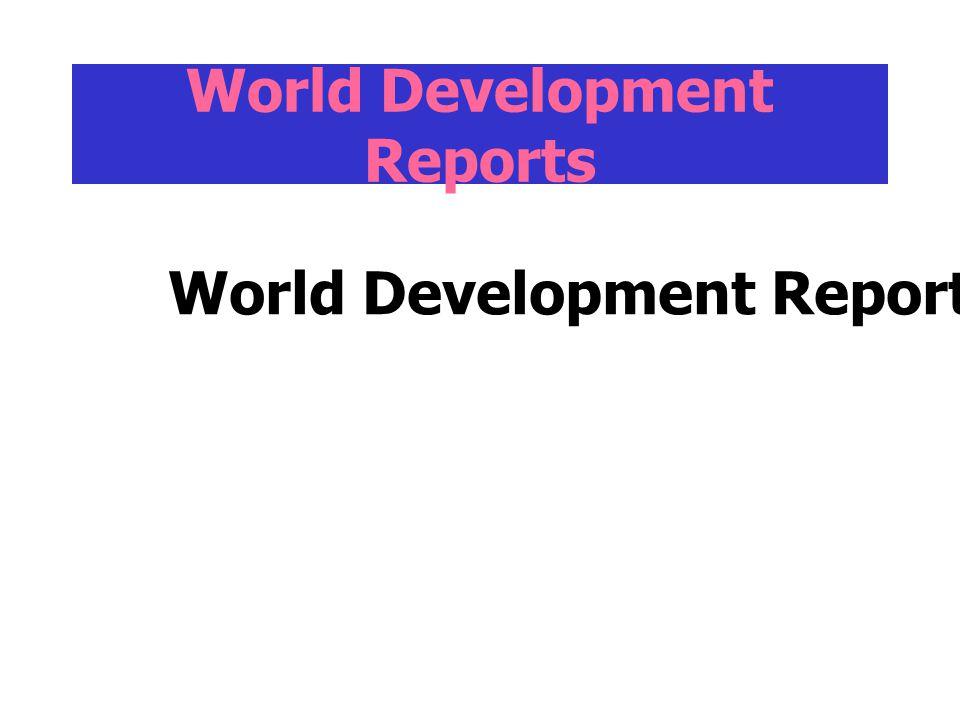 World Development Reports World Development Report 2003