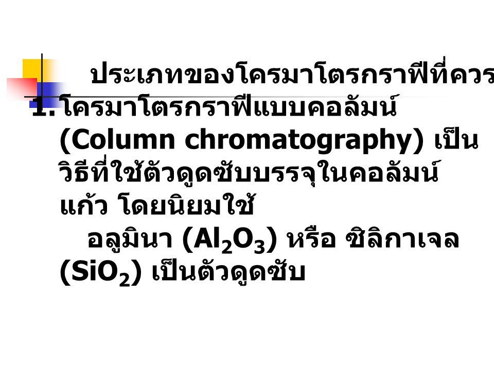 ประเภทของโครมาโตรกราฟีที่ควรรู้จัก 1.
