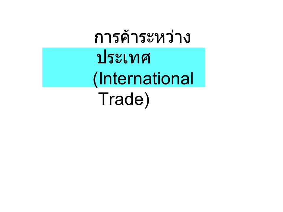 การค้าระหว่าง ประเทศ (International Trade)