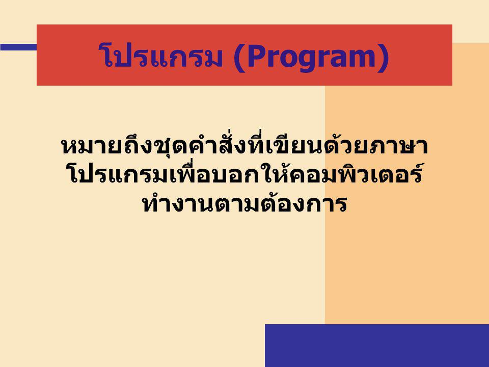 The Programming Process Program – a set of detailed, step-by-step instructions that directs the computer to do what you want it to do Programming language – a set of rules that provides a way of telling the computer what operations to perform Five main steps  Defining the problem  Planning the solution  Coding the program  Testing the program  Documenting the program