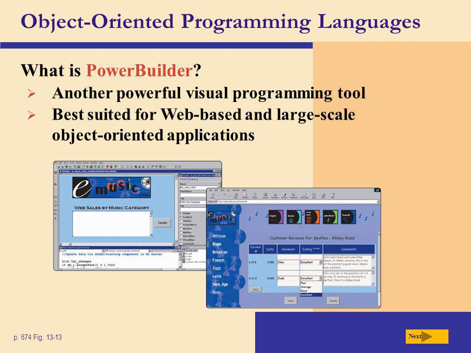 Object-Oriented Programming Languages What is PowerBuilder.