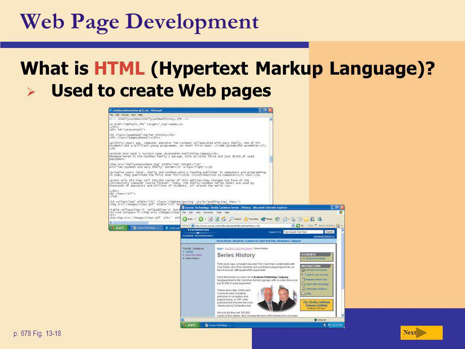 Web Page Development What is HTML (Hypertext Markup Language).