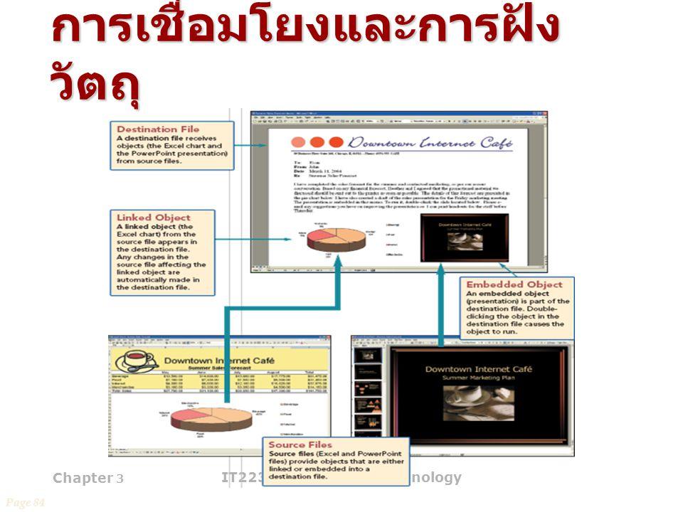 Chapter 3 IT2231 Information Technology 48 การเชื่อมโยงและการฝัง วัตถุ Page 84