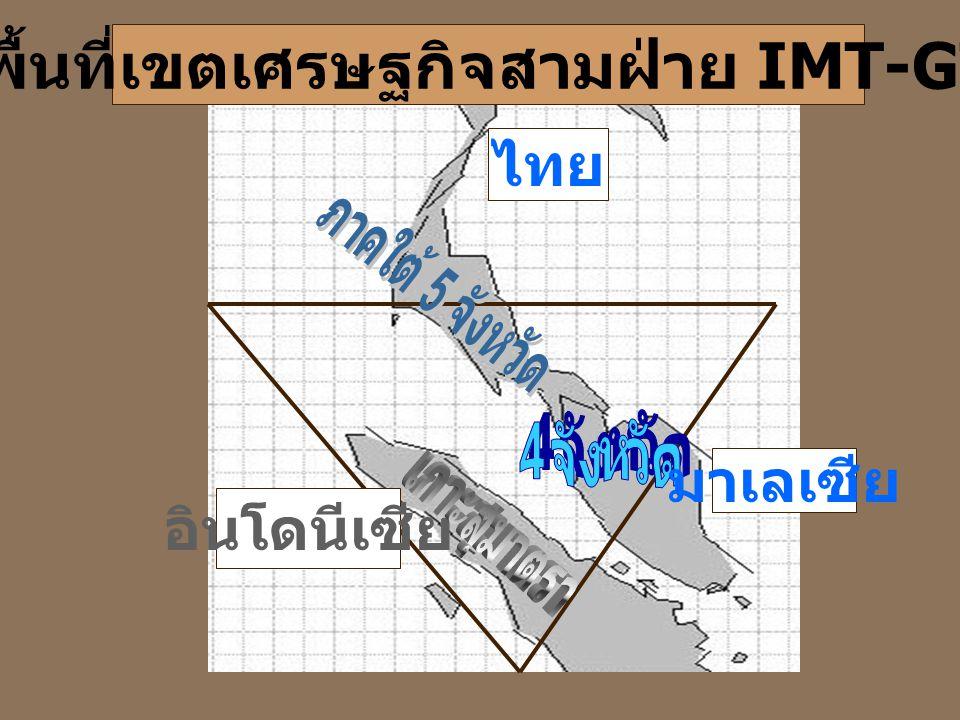 พื้นที่เขตเศรษฐกิจสามฝ่าย IMT-GT อินโดนีเซีย ไทย มาเลเซีย