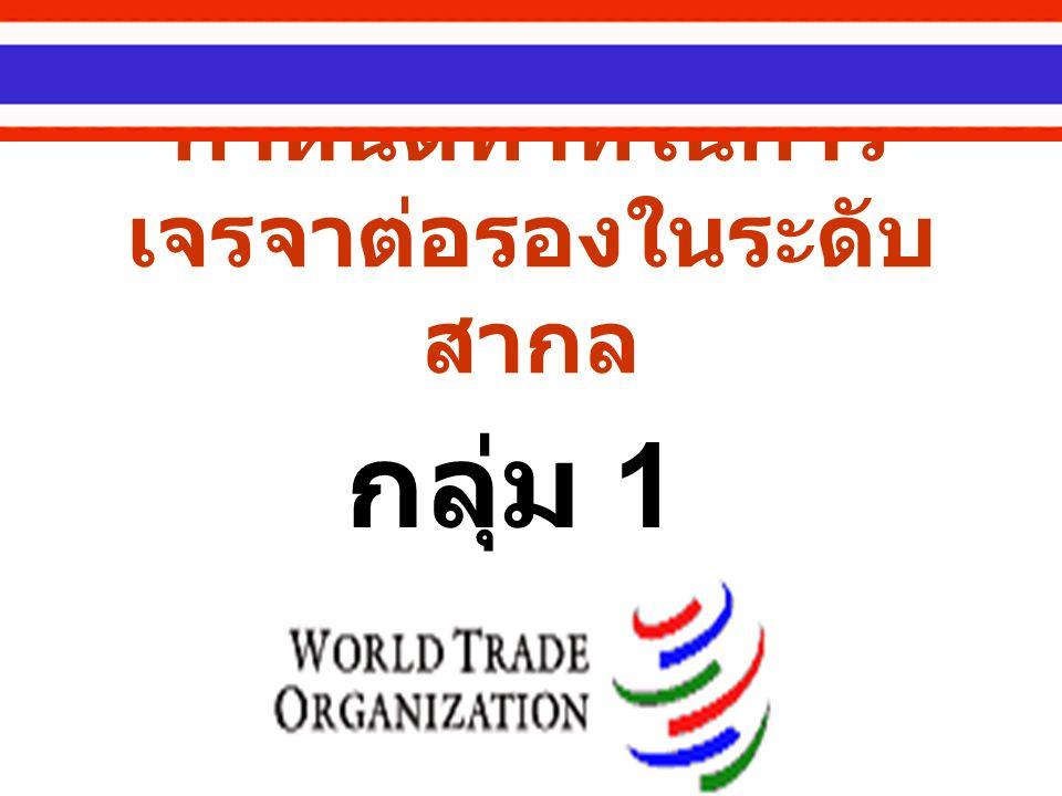 รายงานที่จะนำเสนอ องค์การการค้าโลก : สมาคมคนรวยจริงหรือ ( เดือนเด่น นิคมบริรักษ์, TDRI) มองย้อนหลัง : ไทยได้อะไร มา เสียอะไรไป ( กรมเจรจา การค้าระหว่างประเทศ กระทรวง พาณิชย์ )