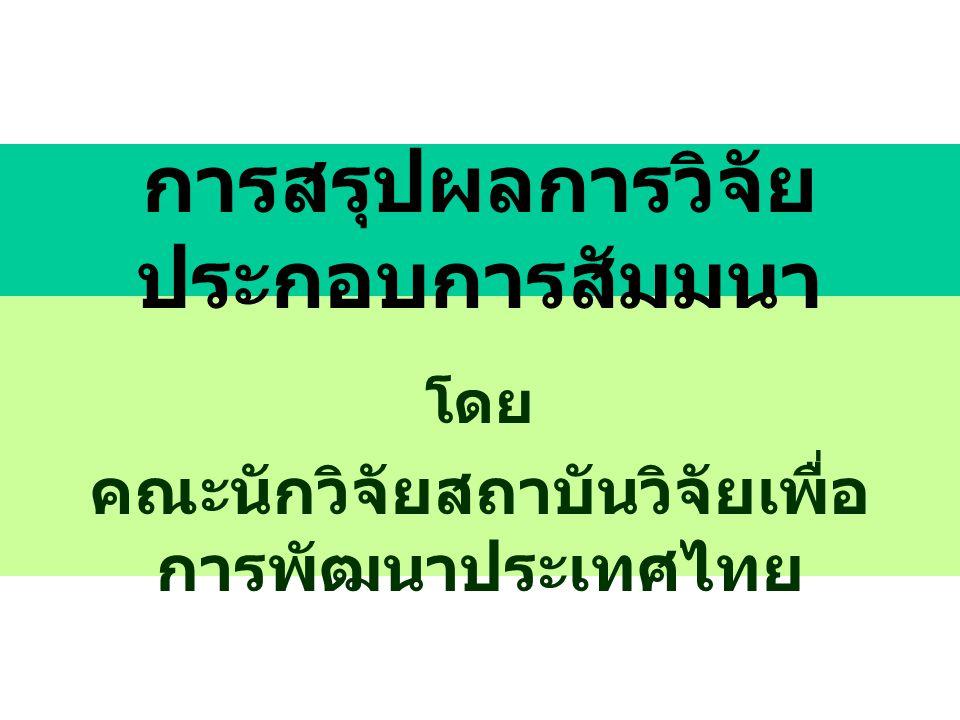 ดร. ฉลองภพ สุสังกร์กาญจน์ ประธานสถาบันวิจัยเพื่อการพัฒนา ประเทศไทย ประธานการสัมมนา