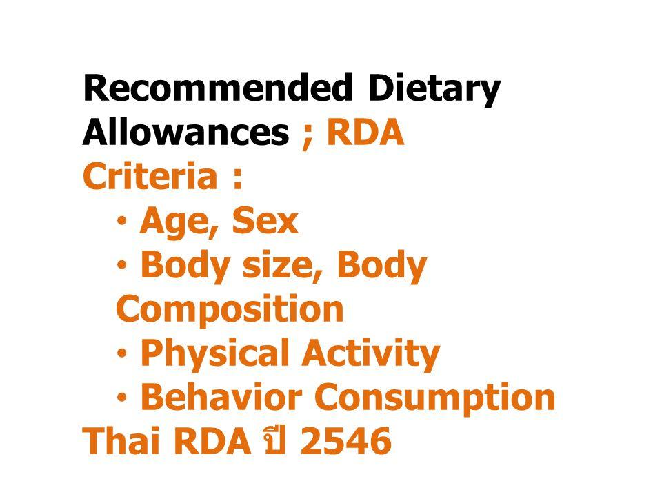 ความต้องการพลังงานของ ร่างกาย = ระดับของพลังงานจาก สารอาหารที่ควรได้รับเพื่อให้ ร่างกายทำหน้าที่ได้โดย สมบูรณ์