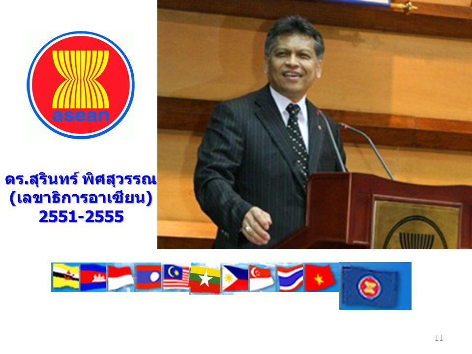 ดร.สุรินทร์ พิศสุวรรณ (เลขาธิการอาเซียน) 2551-2555 11