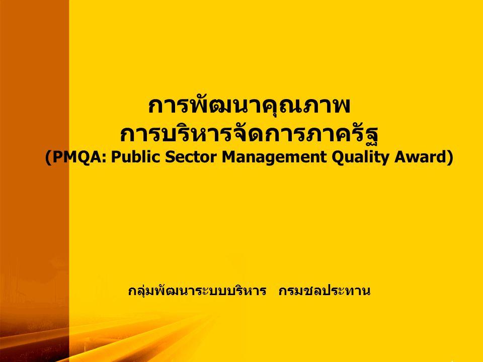 PMQA Organization ผู้นำกับการ พัฒนาองค์กร ส่วนราชการนำระบบพัฒนาคุณภาพมาใช้