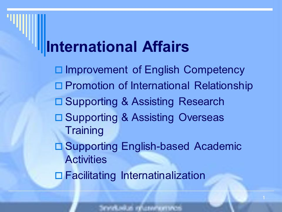International Affairs Faculty of Medicine 2