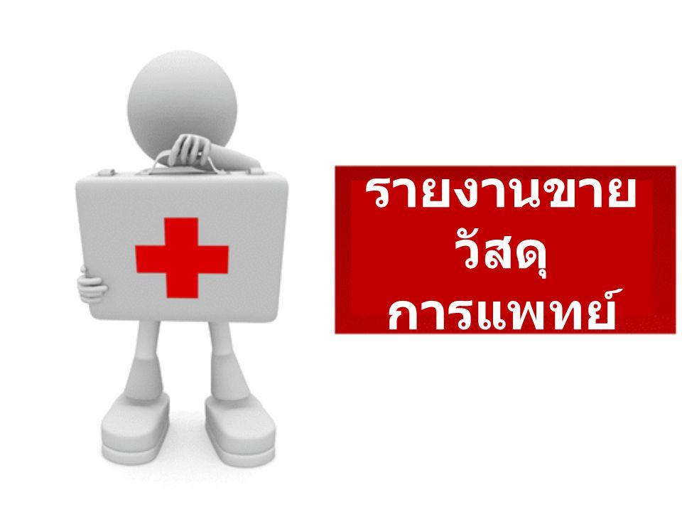 รายงานขาย วัสดุ การแพทย์