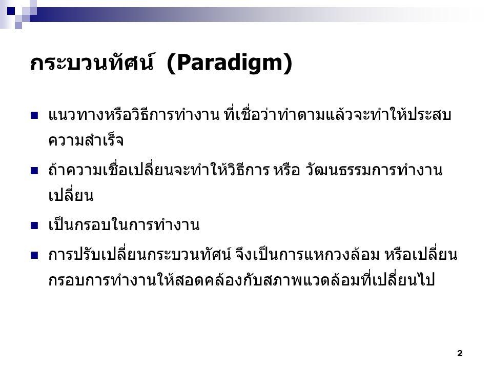 1 กระบวนทัศน์ในการ บริหารราชการไทย อาจารย์ฉัตรมงคล แน่นหนา