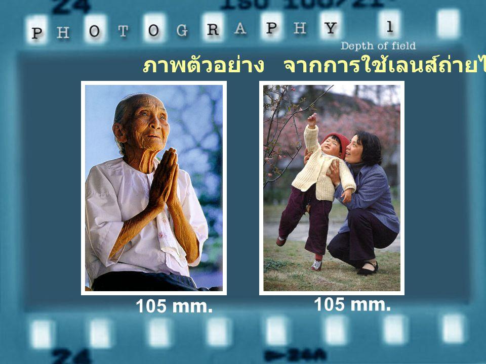 เนื่องจากเลนส์ถ่ายภาพไกลให้ ภาพที่มีความชัดลึกน้อยเหมาะสำหรับ การถ่ายภาพที่ต้องการให้ฉากหลังพร่า มัว เพื่อวัตถุจะได้ดูเด่นขึ้นทำให้ได้ภาพ สวยงามและมีค