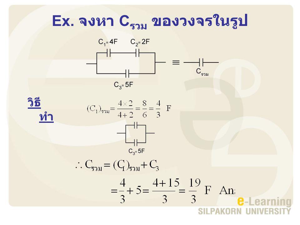 Ex. จงหา C รวม ของวงจรในรูป วิธี ทำ
