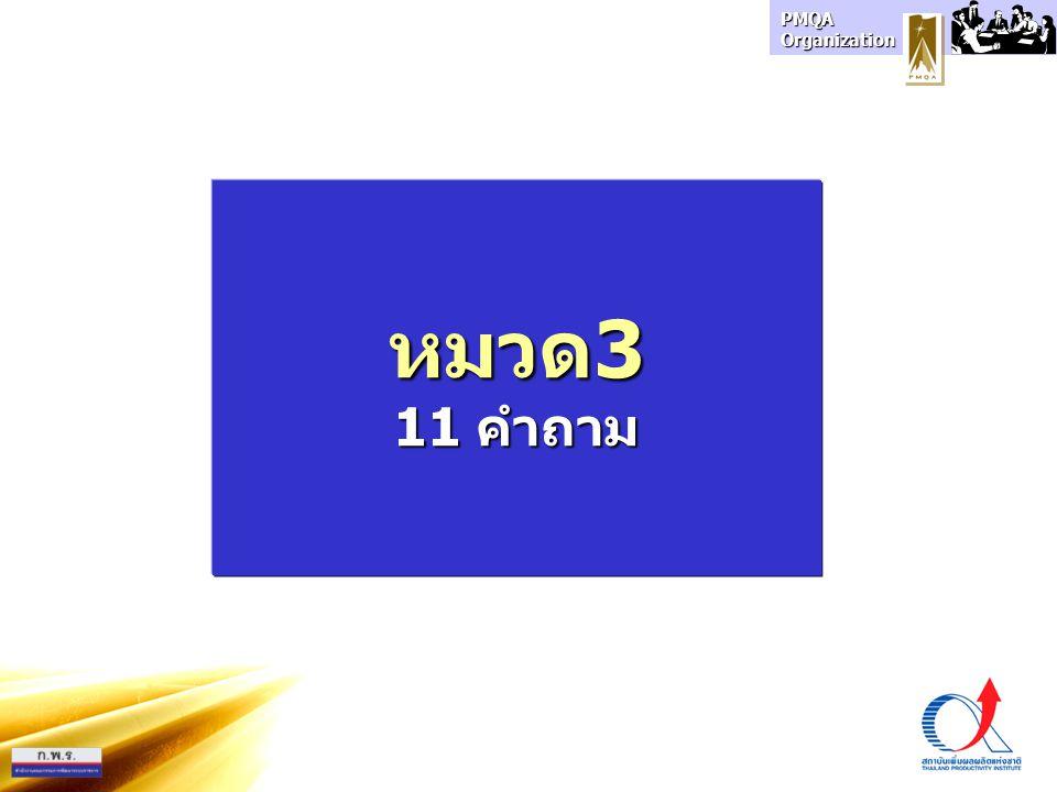 PMQA Organization หมวด3 11 คำถาม