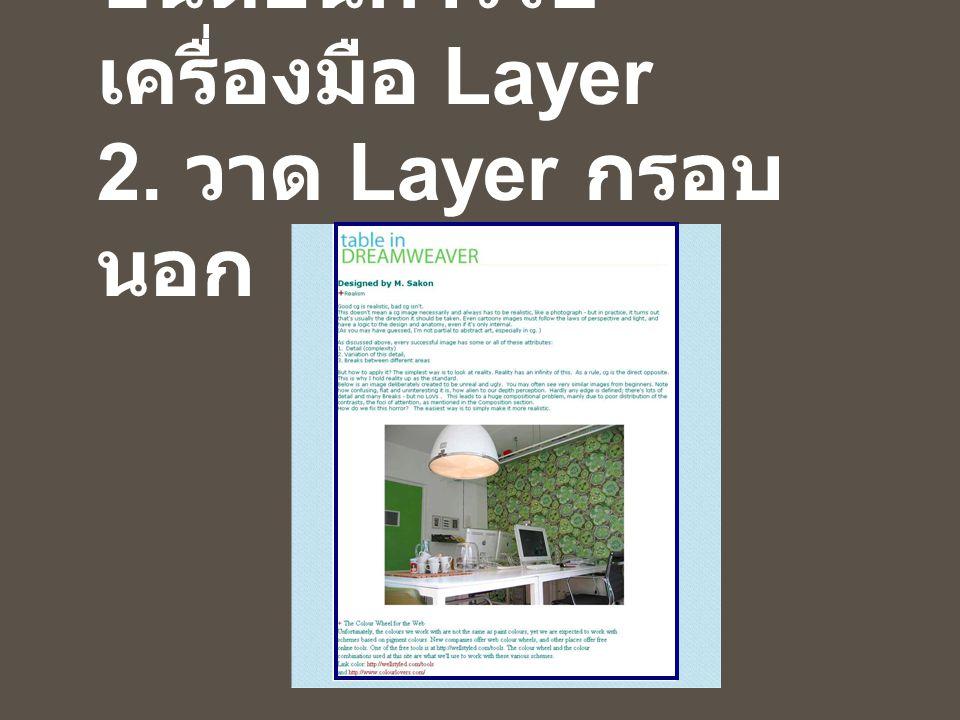 ขั้นตอนการใช้ เครื่องมือ Layer 2. วาด Layer กรอบ นอก