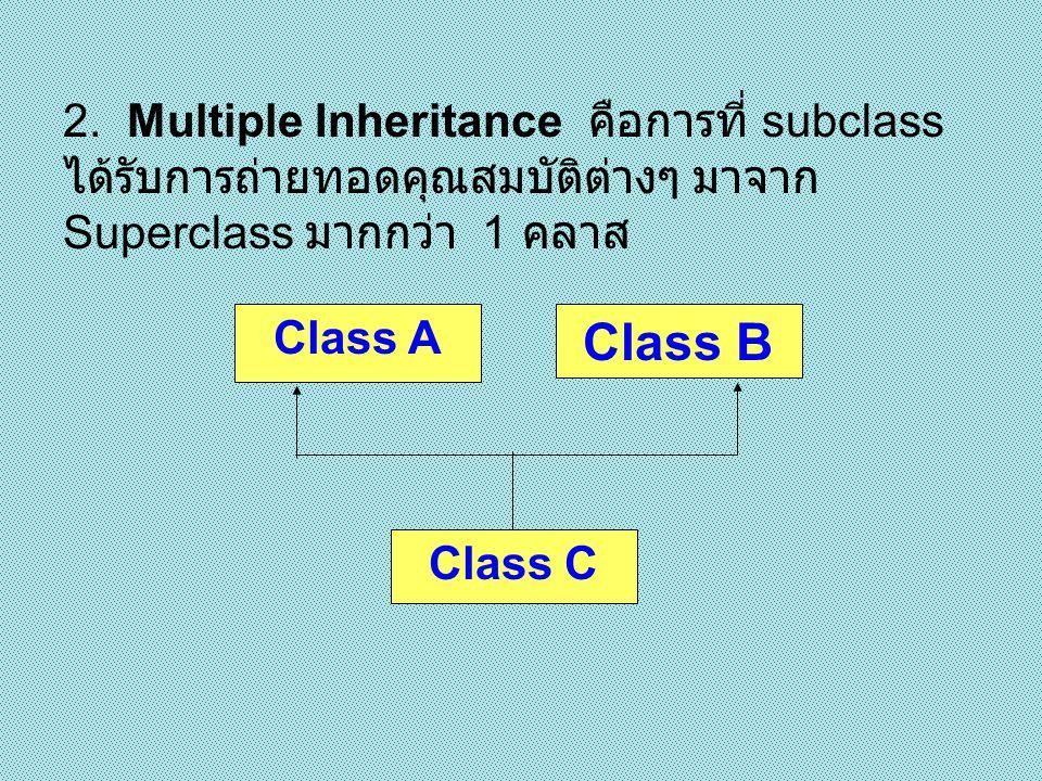- สร้าง class หลักขึ้นมา 1 class แล้ว กำหนดให้มีคุณสมบัติต่างๆ ซึ่งเป็น คุณสมบัติโดยรวม ที่ class อื่นๆ จำเป็นต้องมี - จากนั้นจึงสร้าง class คลาสอื่นขึ้นมา เพื่อ รับการถ่ายทอดคุณสมบัติทั้งหมดจาก class หลักมาโดยอัตโนมัติ โดยไม่ต้อง สร้างขึ้นใหม่ - สามารถสร้างคุณสมบัติอื่นๆ นอกเหนือจาก class หลักขึ้นมาเองได้ หลักในการสร้างการ สืบทอด