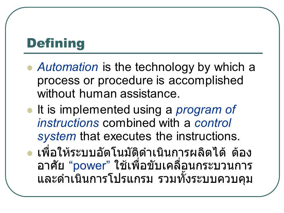 Program of Instruction Work cycle program: Ex.
