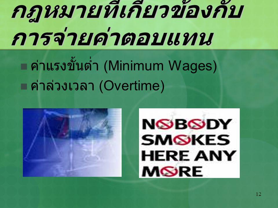 12 กฎหมายที่เกี่ยวข้องกับ การจ่ายค่าตอบแทน ค่าแรงขั้นต่ำ (Minimum Wages) ค่าล่วงเวลา (Overtime)