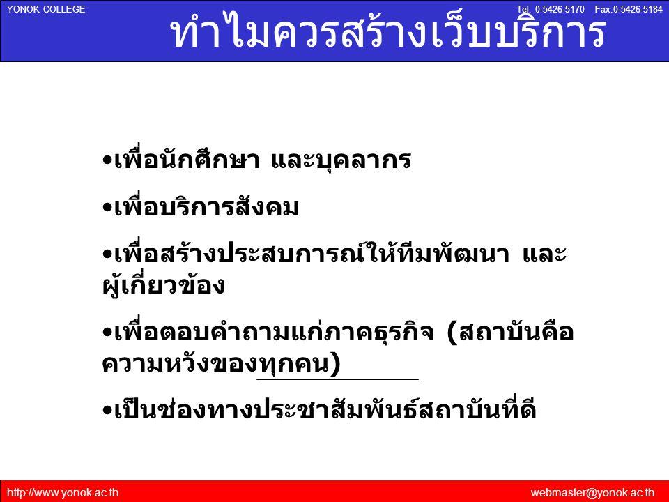 http://www.yonok.ac.thwebmaster@yonok.ac.th YONOK COLLEGETel.