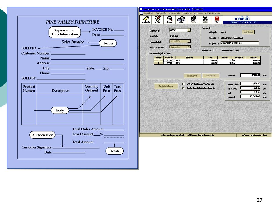 28 การออกแบบหน้าจอ การออกแบบหน้าจอทั้งหมดมีจุดมุ่งหมาย 2 อย่าง คือ เพื่อนำเสนอข้อมูลและช่วยในการ ปฏิบัติงานในการใช้ระบบ มีแนวทางมากมายใน การออกแบบที่ต้องพิจารณาคือหน้าจอทั้งหมด ที่ปรากฏควรดึงดูดใจให้อยากใช้งาน ไม่ควร แน่นเกินไป